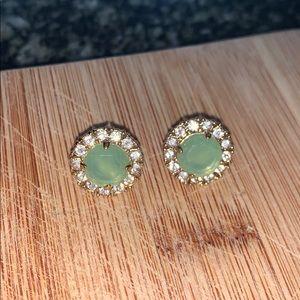 Kate Spade stud earrings in green